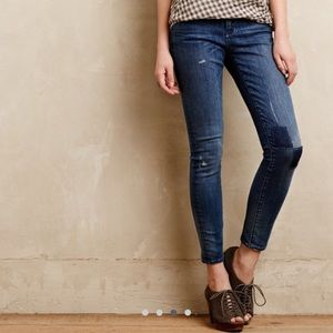 Anthropologie Pilcro Stet Ankle Jeans-Patch detail